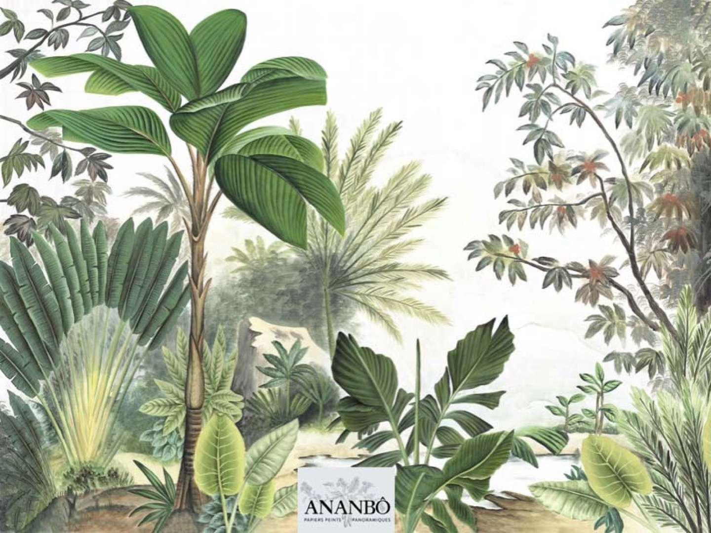 Modèle du Papier peint motif jungle