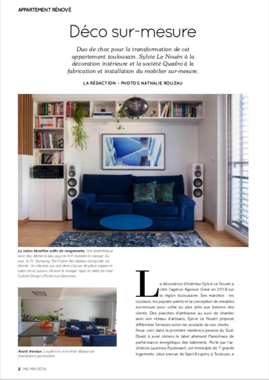On parle d'Agencer Crée dans la revue Ma Maison