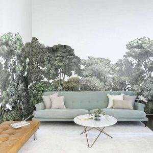 papier peint ambiance végétale