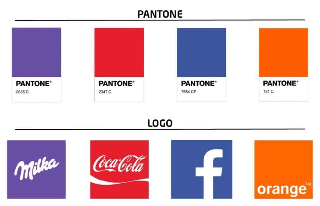 Tous les logos ont des couleurs référencées Pantone